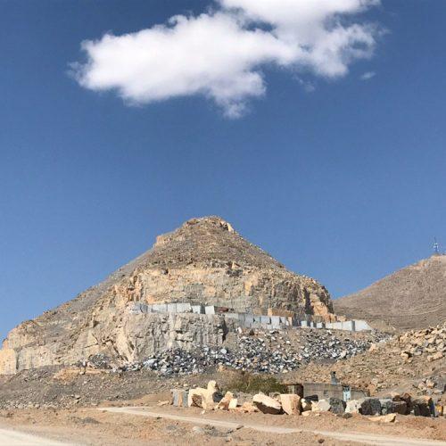 Persian Nero Marble quarry